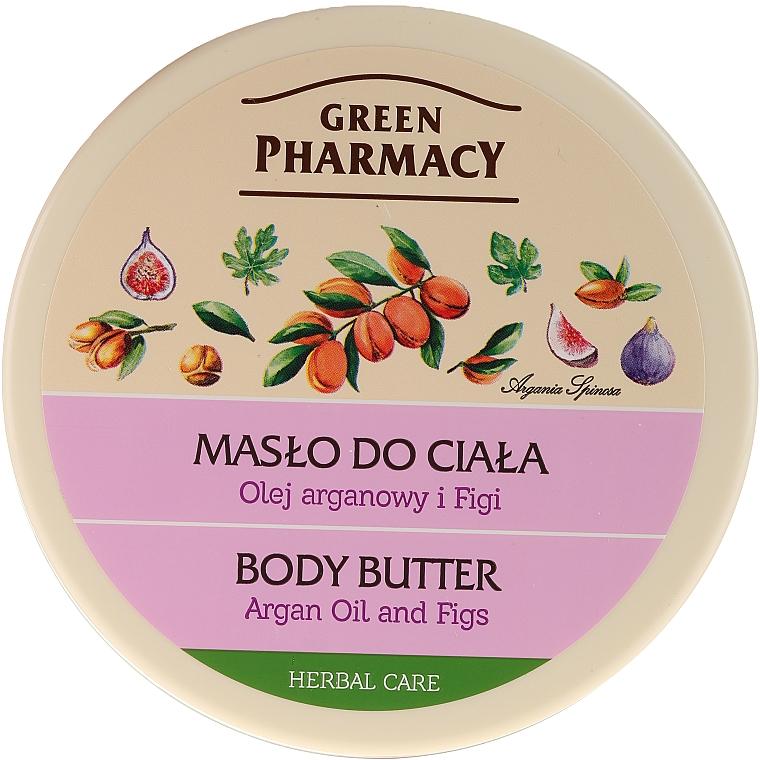 """Crema burro per il corpo """"Argan e Fico"""" - Green Pharmacy — foto N1"""