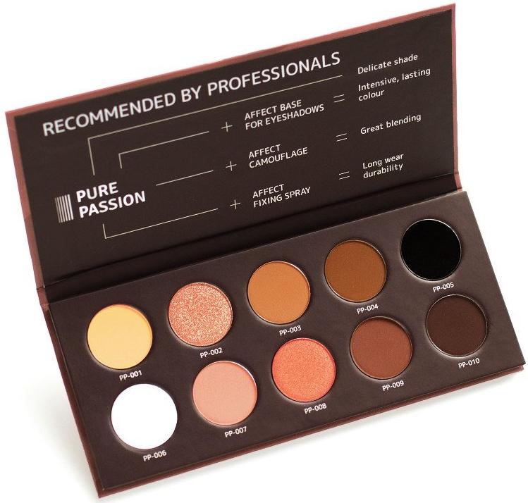 Palette di ombretti pressati - Affect Cosmetics Pure Passion Eyeshadow Palette