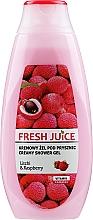"Profumi e cosmetici Gel doccia ""Litchi e lampone"" - Fresh Juice Creamy Shower Gel Litchi & Raspberry"