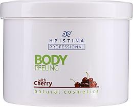 """Profumi e cosmetici Scrub corpo """"Ciliegia"""" - Hristina Professional Cherry Body Peeling"""