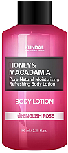 "Profumi e cosmetici Lozione corpo ""Rosa inglese"" - Kundal Honey & Macadamia Body Lotion English Rose"