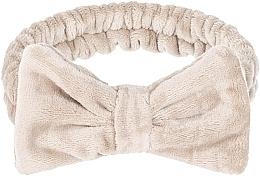 "Profumi e cosmetici Fascia per capelli cosmetica, beige ""Wow Bow"" - Makeup Beige Hair Band"
