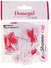 Profumi e cosmetici Cuffia doccia, 9298, fiori bianco-rossi - Donegal