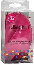 Profumi e cosmetici Spazzola compatta per capelli, fucsia - Rolling Hills Compact Detangling Brush Fuschia