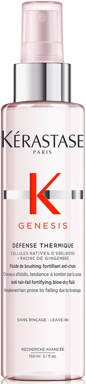 Spray fluido per rinforzante anticaduta dei capelli, con protezione termica - Kerastase Genesis Anti Hair-Fall Fortifying Blow-dry Fluid