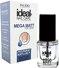 Profumi e cosmetici Top Coat Matte - Ingrid Cosmetics Ideal+ Nail Care Definition Mega Matt Top Coat
