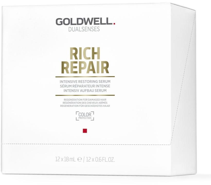 Siero rigenerante per capelli danneggiati - Goldwell Dualsenses Rich Repair Intensive Restoring Serum — foto N2