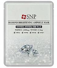 Profumi e cosmetici Maschera viso con estratto di polvere di diamante - SNP Diamond Brightening Ampoule Mask