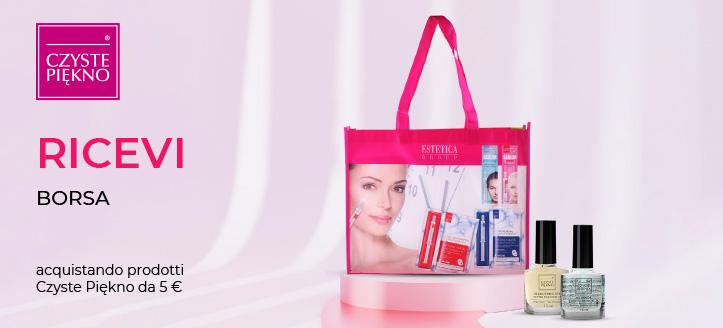 Acquistando prodotti Czyste Piękno da 5 €, ricevi in regalo una borsa