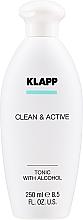 Profumi e cosmetici Tonico viso - Klapp Clean & Active Tonic with Alcohol