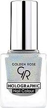 Profumi e cosmetici Smalto unghie - Golden Rose Holographic Nail Colour