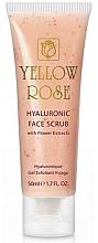 Profumi e cosmetici Scrub con acido ialuronico ed estratti di fiori - Yellow Rose Hyaluronic Face Scrub