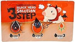 Profumi e cosmetici Trattamento rimozione punti neri, in 3 fasi - Elizavecca Milky Piggy Black Head Solution 3 Step