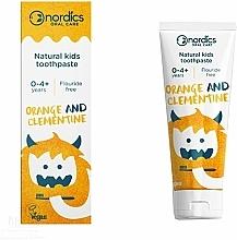 """Profumi e cosmetici Dentifricio per bambini """"Mandarin Clementine"""" - Nordics Kids Orange Clementine Toothpaste"""