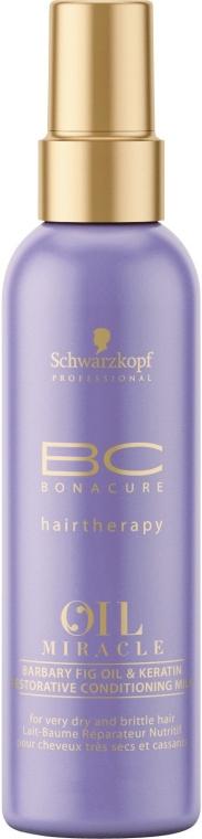 Condizionante spray all'olio di fico e cheratina - Schwarzkopf Professional Bonacure Oil & Micro Keratin Milk — foto N1