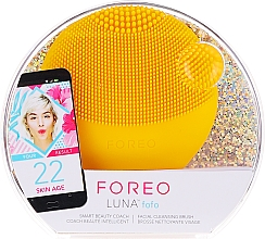 Profumi e cosmetici Spazzola detergente viso - Foreo Luna Fofo Smart Facial Cleansing Brush Sunflower Yellow