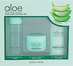 Profumi e cosmetici Set - Holika Holika Aloe (toner/50ml + emulsion/50ml + cr/20ml)