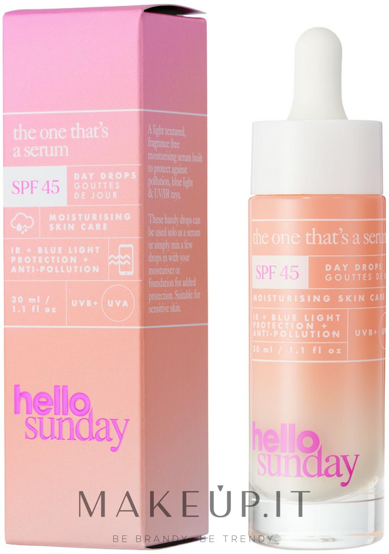 Siero solare viso - Hello Sunday The One That's A Serum Face Drops SPF 45 — foto 30 ml