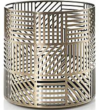 Profumi e cosmetici Candeliere - Yankee Candle Crosshatch Brass Jar Holder