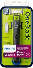 Profumi e cosmetici Trimmer per viso e corpo - Philips OneBlade Face + Body QP2620/20