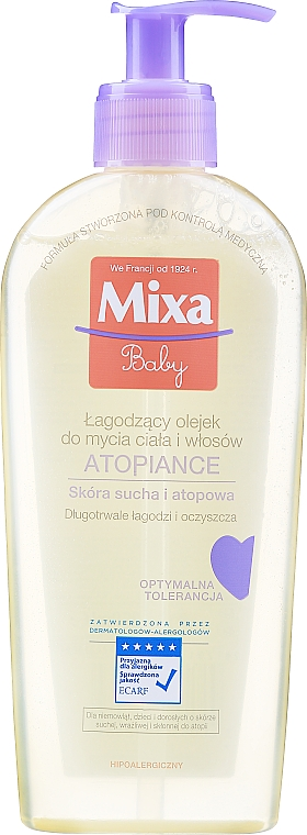 Olio detergente lenitivo per capelli e corpo - Mixa Baby Atopiance Soothing Cleansing Oil For Body & Hair