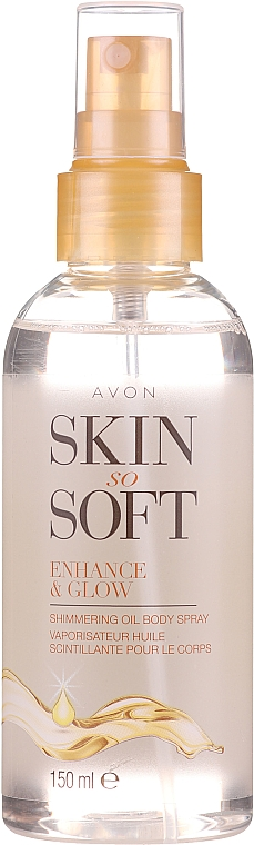 Olio-spray per corpo, con effetto brillante - Avon Skin So Soft Enhance&Glow Shimmering Oil Spray