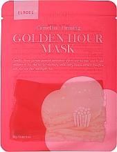 Profumi e cosmetici Maschera viso in tessuto rassodante - Elroel Golden Hour Mask Camellia Firming