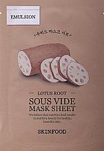 Profumi e cosmetici Maschera in tessuto con estratto di radice di loto - Skinfood Lotus Root Sous Vide Mask Sheet