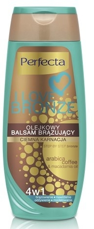 Balsamo corpo abbronzante, scuro - Perfecta I Love Bronze Balm