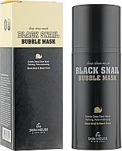 Profumi e cosmetici Maschera ossigenata alla bava di lumaca e carbone di legna - The Skin House Black Snail Bubble Mask