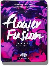Profumi e cosmetici Maschera nutriente con estratto di viola - Origins Flower Fusion Violet Nourishing Sheet Mask