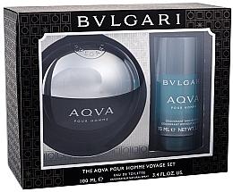 Profumi e cosmetici Bvlgari Aqva Pour Homme - Set (edt/100ml + deo/75ml)