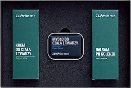 Set - Zew Demanding Traper Set (ash/balm/80ml + sopa/85ml + f/b/cr/80ml + soap/dish/1pcs) — foto N2