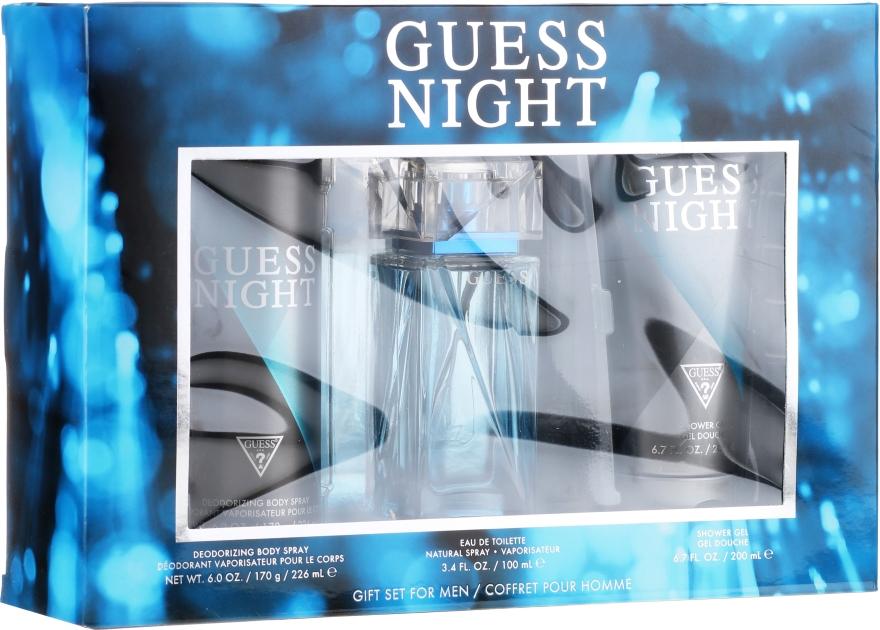 Guess Night - Zestaw (edt/100ml + sh/gel/200ml + deo/226ml) — foto N1
