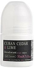 Profumi e cosmetici Bath House Cuban Cedar & Lime - Deodorante roll-on