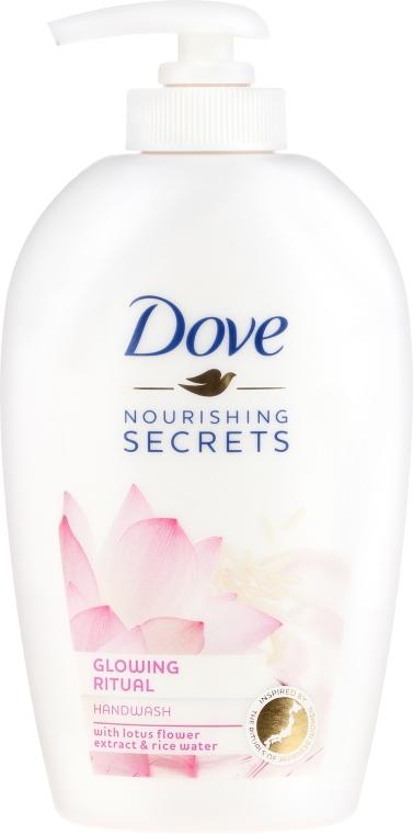 """Sapone liquido mani """"Fiore di loto"""" - Dove Nourishing Secrets Glowing Ritual Hand Wash"""