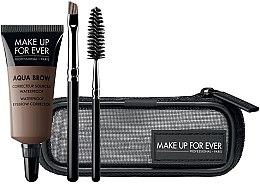 Profumi e cosmetici Set - Make Up For Ever Aqua Brow Eyebrow Corrector Kit (corrector/7ml+brush/2pcs+bag) (15 -Light Brown)