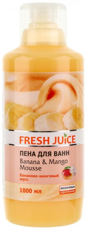 Schiuma bagno - Fresh Juice Banana and Mango Mousse