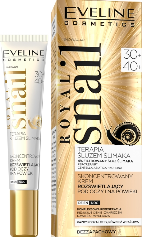 Crema contorno occhi - Eveline Cosmetics Royal Snail 30+/40+