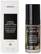 Profumi e cosmetici Fondotinta - Korres Black Pine Lifting, Firming & Brightening Foundation
