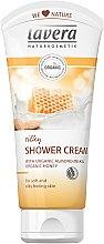Profumi e cosmetici Crema doccia - Lavera Silky Shower Cream with Organic Almond and Honey