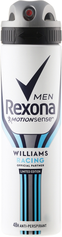 """Deodorante-spray uomo """"Willams racing"""" - Rexona MotionSense Men Deodorant Spray"""