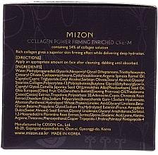 Crema rassodante al collagene - Mizon Collagen Power Firming Enriched Cream — foto N3