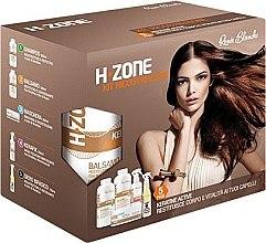 """Profumi e cosmetici Set """"Rigenerazione dei capelli"""" - H.Zone (shm/500/ml + lot/500/ml + spray/250/ml + serum/150/ml + towel)"""