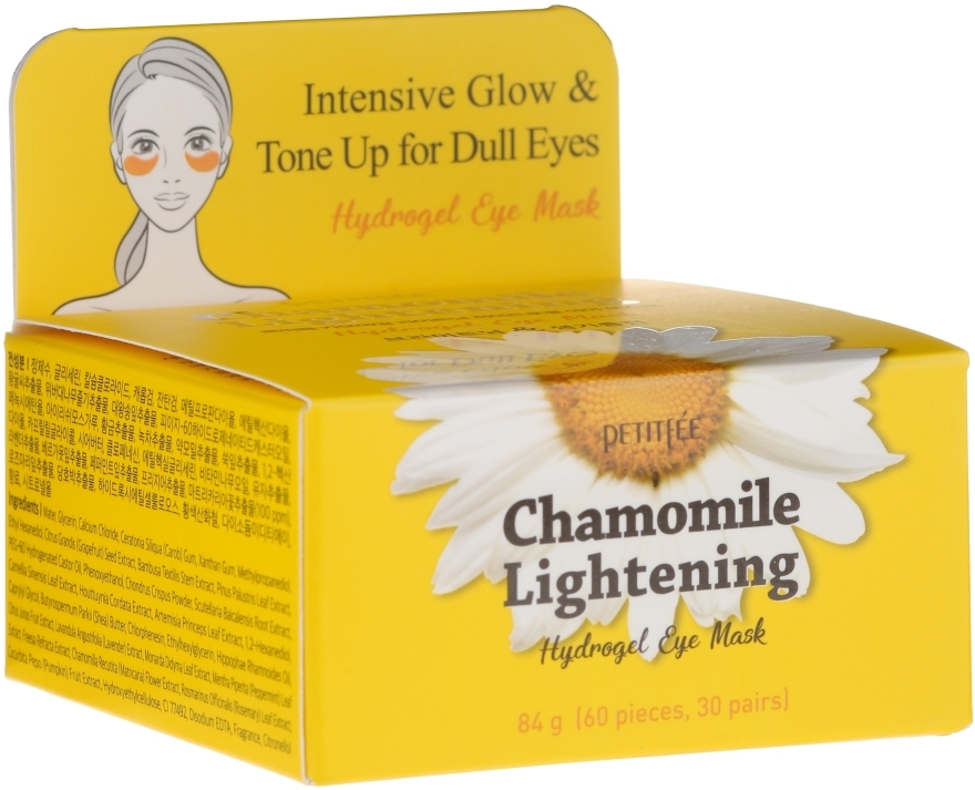 Patch schiarenti in hydrogel per contoocchi con estratto di camomilla - Petitfee&Koelf Chamomile Lightening Hydrogel Eye Mask