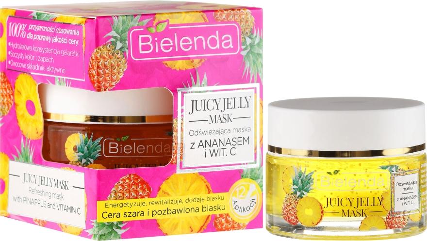 Maschera viso con ananas e vitamina C - Bielenda Juicy Jelly Mask
