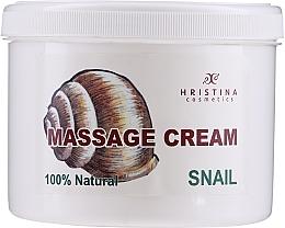 Profumi e cosmetici Crema da massaggio per viso e corpo - Hristina Cosmetics Massage Snail Cream