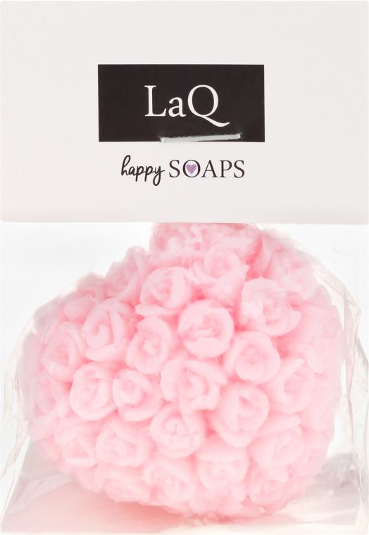 """Sapone naturale fatto a mano """"Cuore con rose"""" con aroma di ciliegia - LaQ Happy Soaps Natural Soap"""