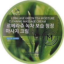 Profumi e cosmetici Crema da massaggio per il viso - Lebelage Green Tea Moisture Cleaning Massage Cream