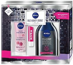 Profumi e cosmetici Set - Nivea (micel/water/400ml+peel/75ml+lip/balm/4.8g)